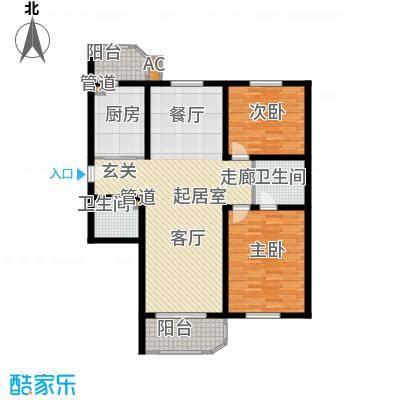 北京太阳城115.10㎡H座C面积11510m户型