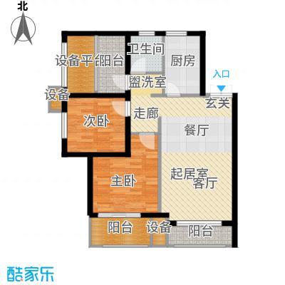 新弘国际阳光城85.93㎡A-1偶数层户型