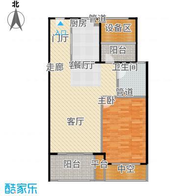 新弘国际阳光城81.43㎡B-3偶数层户型