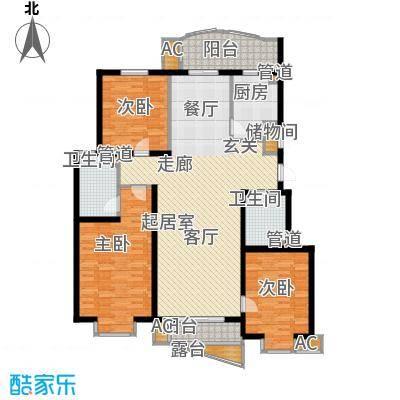 北京太阳城141.00㎡三期B53面积14100m户型