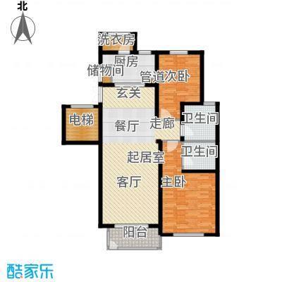 北京太阳城119.00㎡T4面积11900m户型