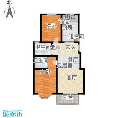 北京太阳城111.00㎡T2面积11100m户型