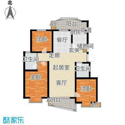 北京太阳城141.00㎡B5面积14100m户型