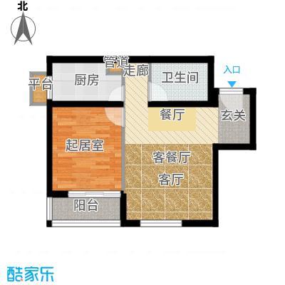 清枫华景园70.68㎡5A21面积7068m户型