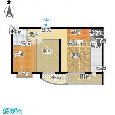 清枫华景园103.00㎡4B11型面积10300m户型