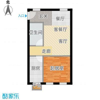 清枫华景园63.76㎡5A71面积6376m户型