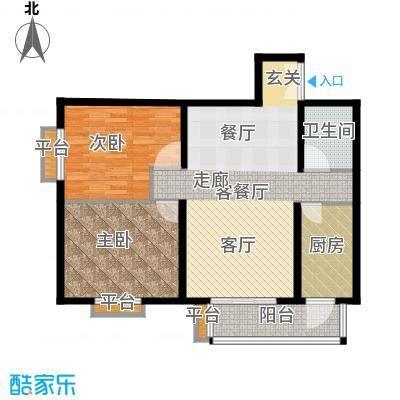 清枫华景园109.04㎡4B12面积10904m户型