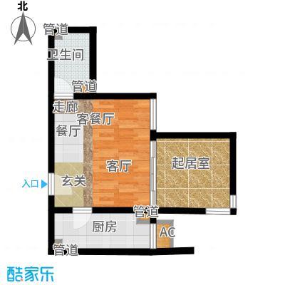 清枫华景园57.75㎡5A41面积5775m户型