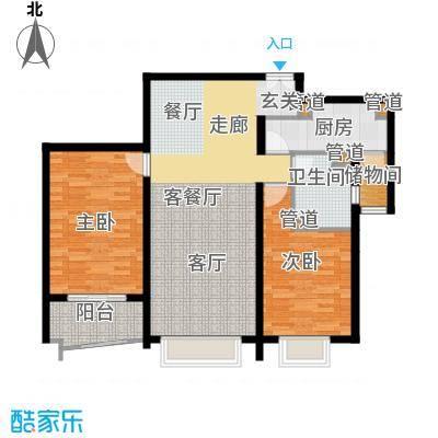 清枫华景园108.24㎡3J22面积10824m户型