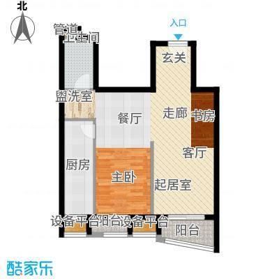 中海城香克林77.73㎡1D(正)面积7773m户型