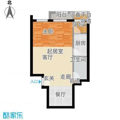 中海城香克林66.39㎡1C(正)面积6639m户型