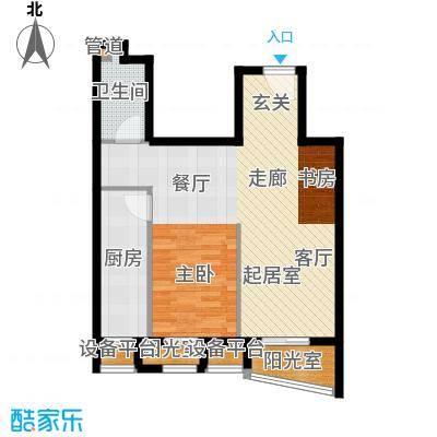 中海城香克林77.22㎡1D面积7722m户型