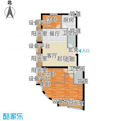 中海城香克林146.22㎡3E3面积14622m户型