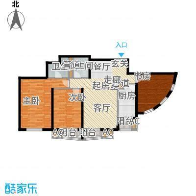 中海城香克林137.66㎡T-3A面积13766m户型