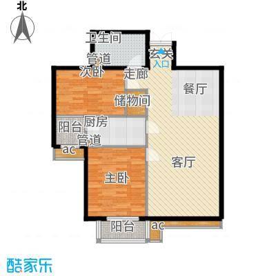 西豪逸景5号楼标准层A户户型