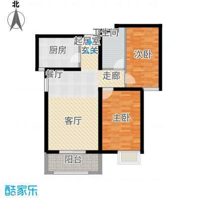 壹城公馆80.00㎡一期1、2号楼B'户型
