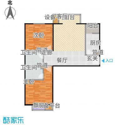 常青藤嘉园95.39㎡通透二居面积9539m户型