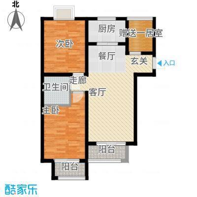 香城俪景二期92.12㎡一期2号楼D户型