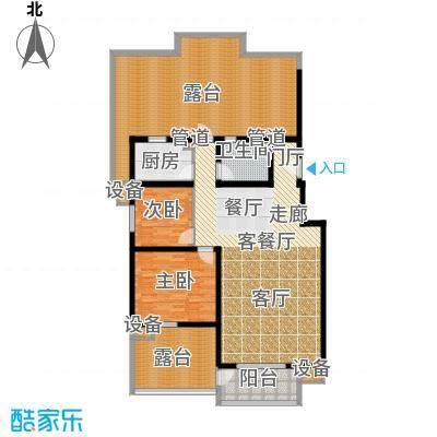 东方太阳城三期琴湖湾109.36㎡A6面积10936m户型