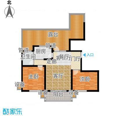 东方太阳城三期琴湖湾113.87㎡B4面积11387m户型