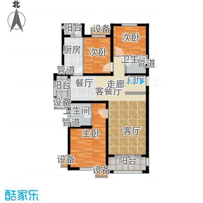 东方太阳城三期琴湖湾152.42㎡B3面积15242m户型