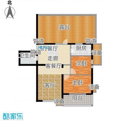 东方太阳城三期琴湖湾112.81㎡B3面积11281m户型