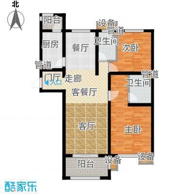 东方太阳城三期琴湖湾147.11㎡B3面积14711m户型