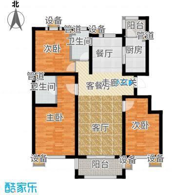东方太阳城三期琴湖湾142.46㎡B3面积14246m户型