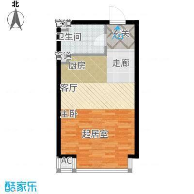 嘉美风尚中心54.99㎡2号楼S面积5499m户型