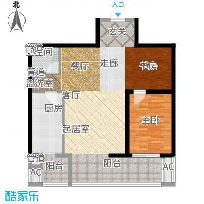 嘉美风尚中心105.19㎡2号楼E2面积10519m户型