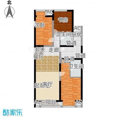 嘉美风尚中心138.73㎡2号楼C面积13873m户型