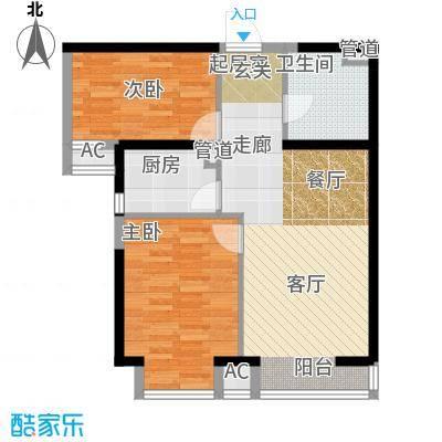 嘉美风尚中心84.99㎡2号楼R面积8499m户型