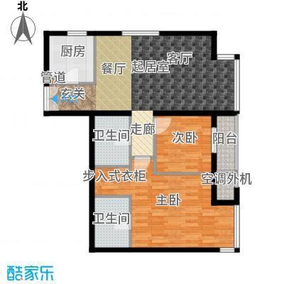 华彩国际公寓6号楼B3户型