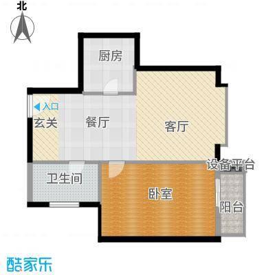 新裕家园76.09㎡A21面积7609m户型