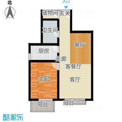 新裕家园77.97㎡B11面积7797m户型