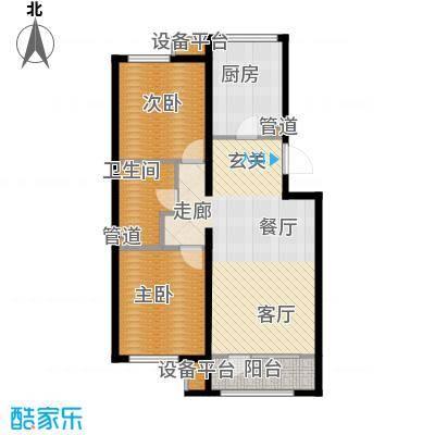 顶秀美泉小镇88.88㎡二期C区m1(售罄)户型