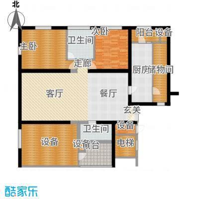 US联邦公寓162.83㎡D面积16283m户型