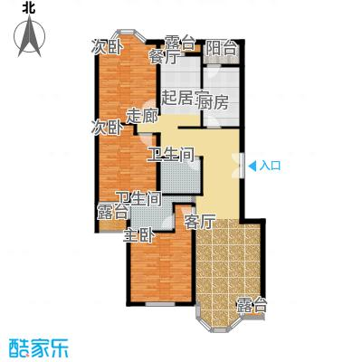中海城圣朝菲138.20㎡3A标准面积13820m户型
