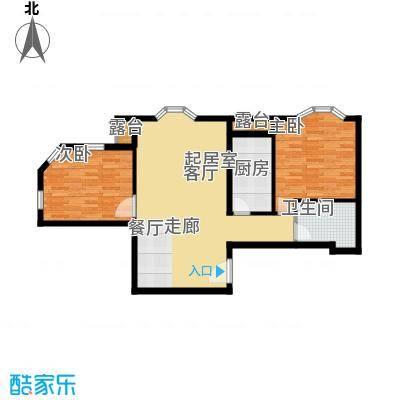 中海城圣朝菲87.43㎡t2-2a标准户面积8743m户型