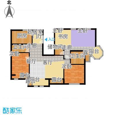 中海城圣朝菲184.21㎡PH2A3B标准面积18421m户型