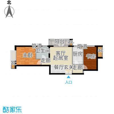上京新航线80.00㎡3E面积8000m户型