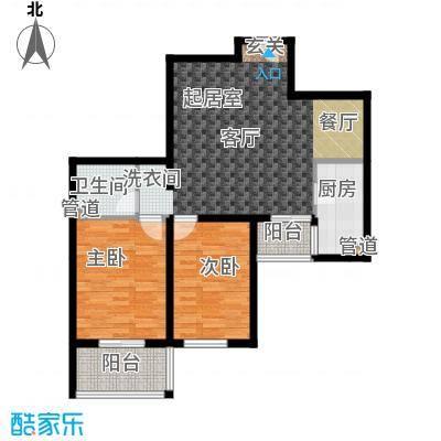 上东三角洲101.31㎡8号楼BB面积10131m户型