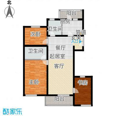 万科青青家园125.03㎡A3面积12503m户型