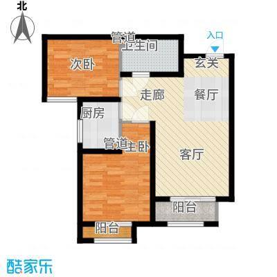 香城俪景二期85.09㎡一期2号楼B户型