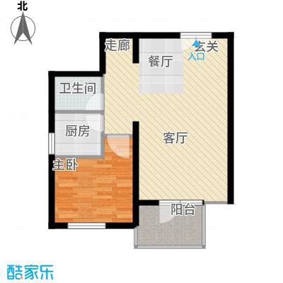蓝调沙龙雅园61.13㎡02B面积6113m户型