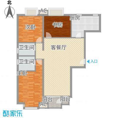 万年花城一期133.75㎡12#楼c2面积13375m户型