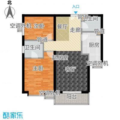 世纪东方城102.99㎡10号楼B面积10299m户型