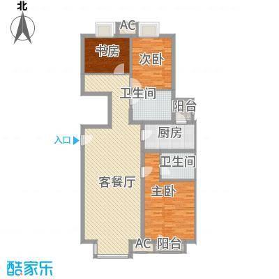 万年花城一期133.06㎡5#楼d面积13306m户型