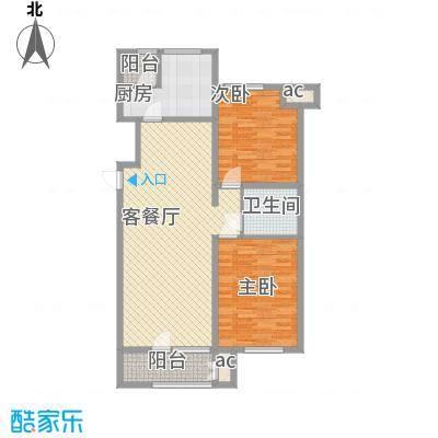 龙湖·香醍溪岸洋房75.00㎡龙湖・香醍溪岸洋房2居户面积7500m户型