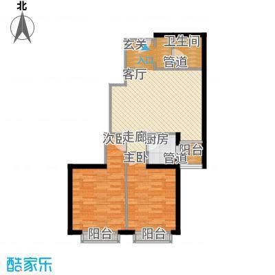 金桥国际公寓85.00㎡D1面积8500m户型